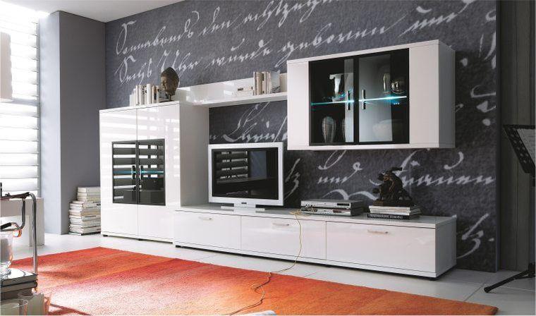 Meuble Tv Hifi Haut De Gamme Meubles De Salon Blanc Design intérieur Meuble Tv Oskar But