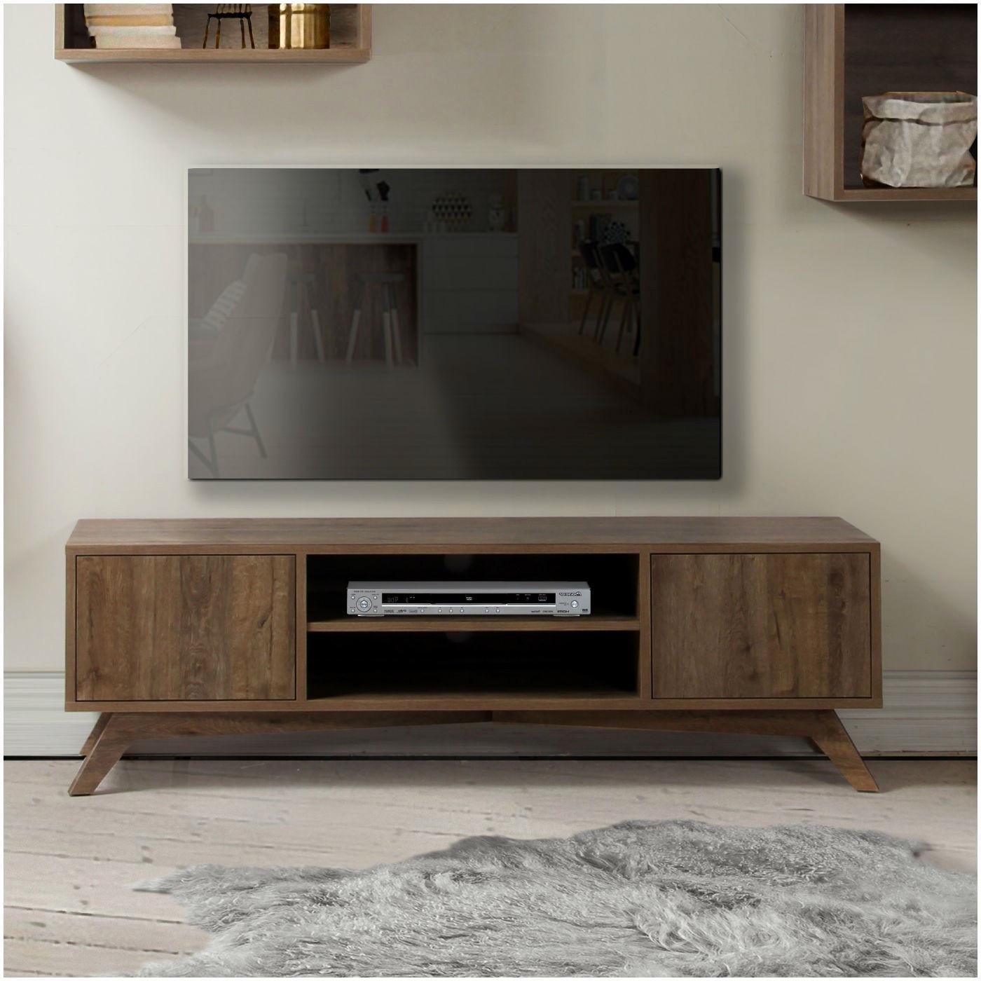 Meuble Tv Hifi Haut De Gamme Table Haute De Bar Vigando intérieur Meuble Tv Oskar But