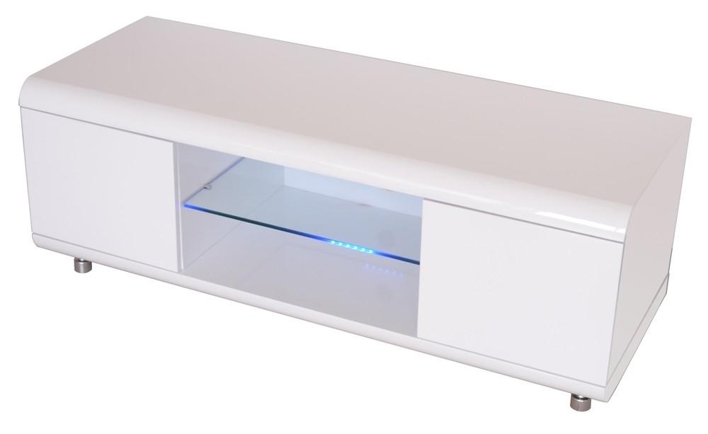 Meuble Tv Laqué Blanc Origami | Lestendances.fr tout Meuble Télé Blanc Laqué