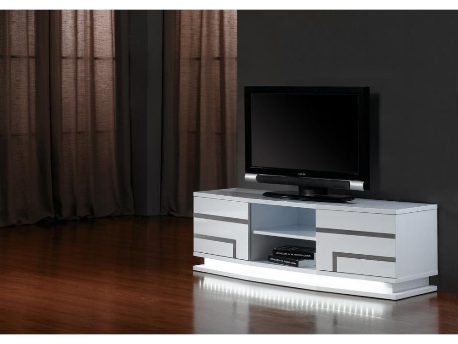 Meuble Tv Pas Cher Vente Unique - Meuble Tv Luminescence tout Meuble Tv Blanc Laqué Pas Cher