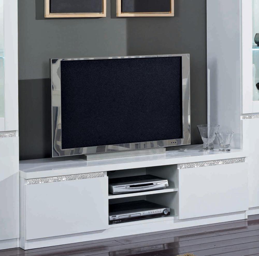 Meuble Tv Plasma Cromo Laque Blanc à Meuble Télé Blanc Laqué