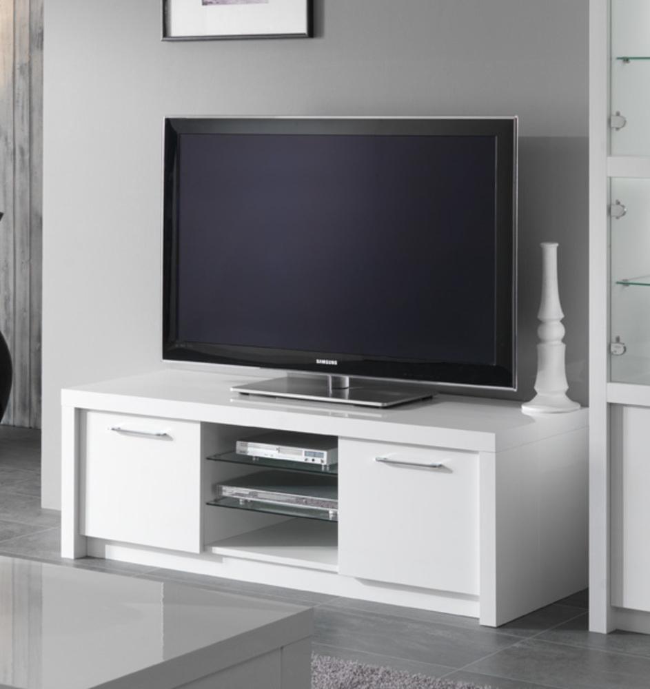 Meuble Tv Plasma Fano Laque Blanc Brillant Blanc L 150 X H tout Meubles Tv But