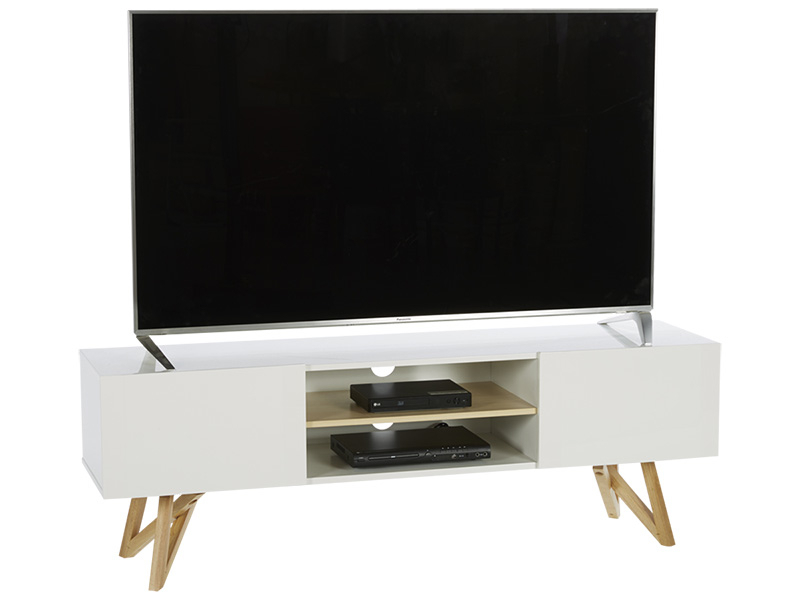 Meuble Tv Sven Blanc - Vente De Meuble Tv - Conforama intérieur Meuble Tv Conforama