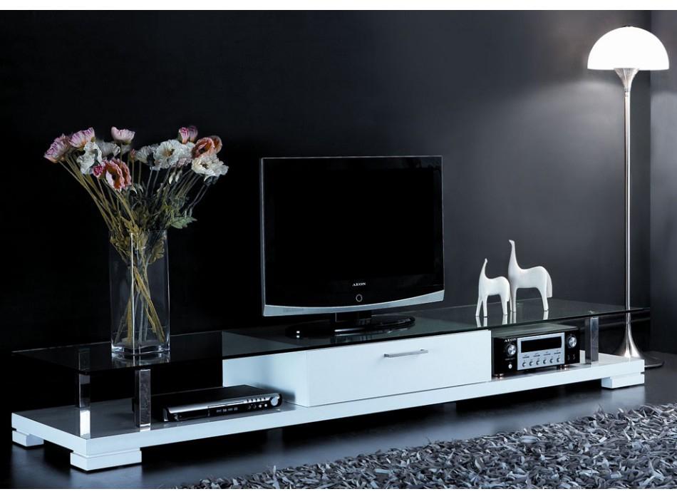 Meuble Tv Vente Unique - Meuble Tv Cristo Laqué Blanc Prix serapportantà Meuble Tv Blanc Laqué Pas Cher