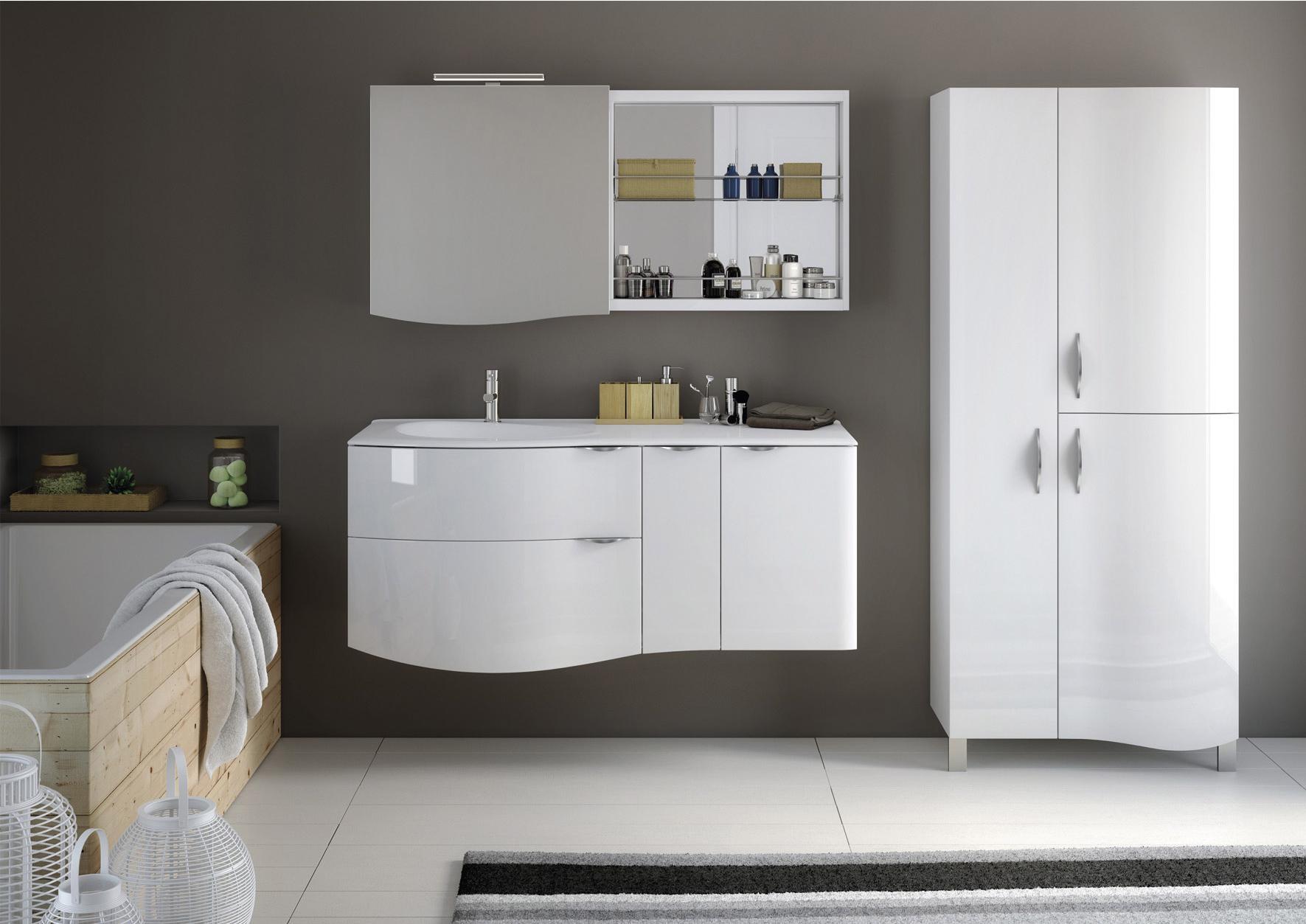 Meuble Vasque 100 Cm Blanc, Elegance | Leroy Merlin tout Vasque Leroy Merlin