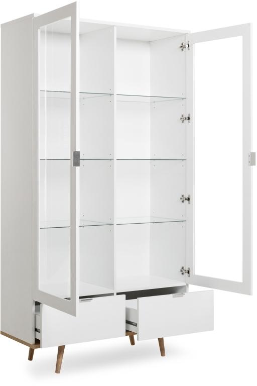 Meuble Vitrine Göteborg 54 Ton Blanc - Chêne Sonoma | Sb avec Vitrine Meuble