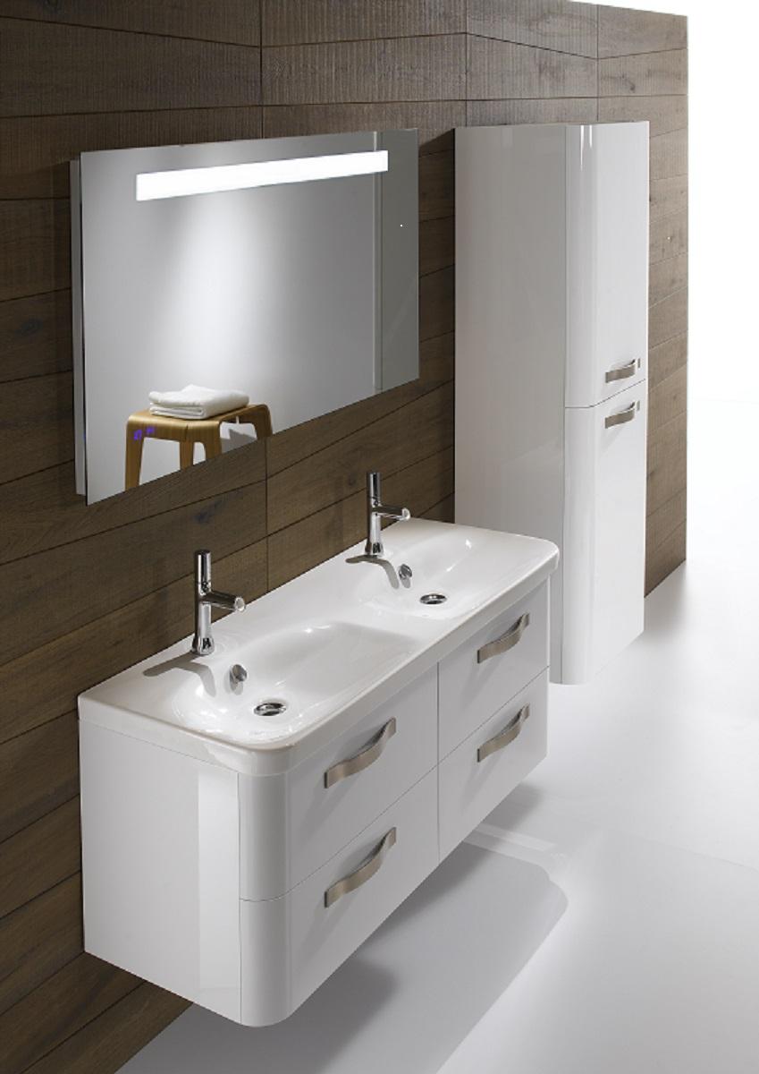 Meubles De Salle De Bains Suspendus Double Vasque En avec Meuble Vasque Design Italien