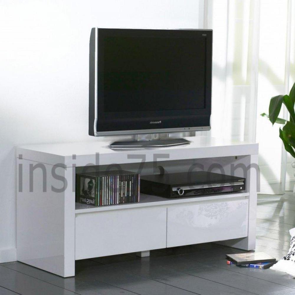 Meubles Tv, Meubles Et Rangements, White Meuble Tv Avec 2 pour Meuble Télé Blanc