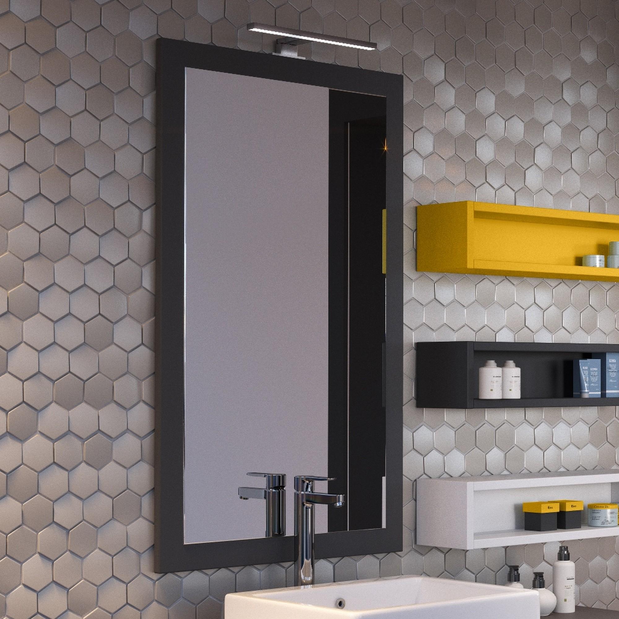 Miroir Led Salle De Bain Noir - Miroir Lumineux Pour Salle pour Mirroir Salle De Bain