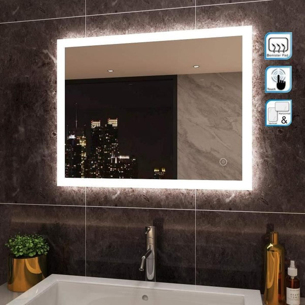 Miroir Salle De Bain 100 X 90 pour Mirroir Salle De Bain