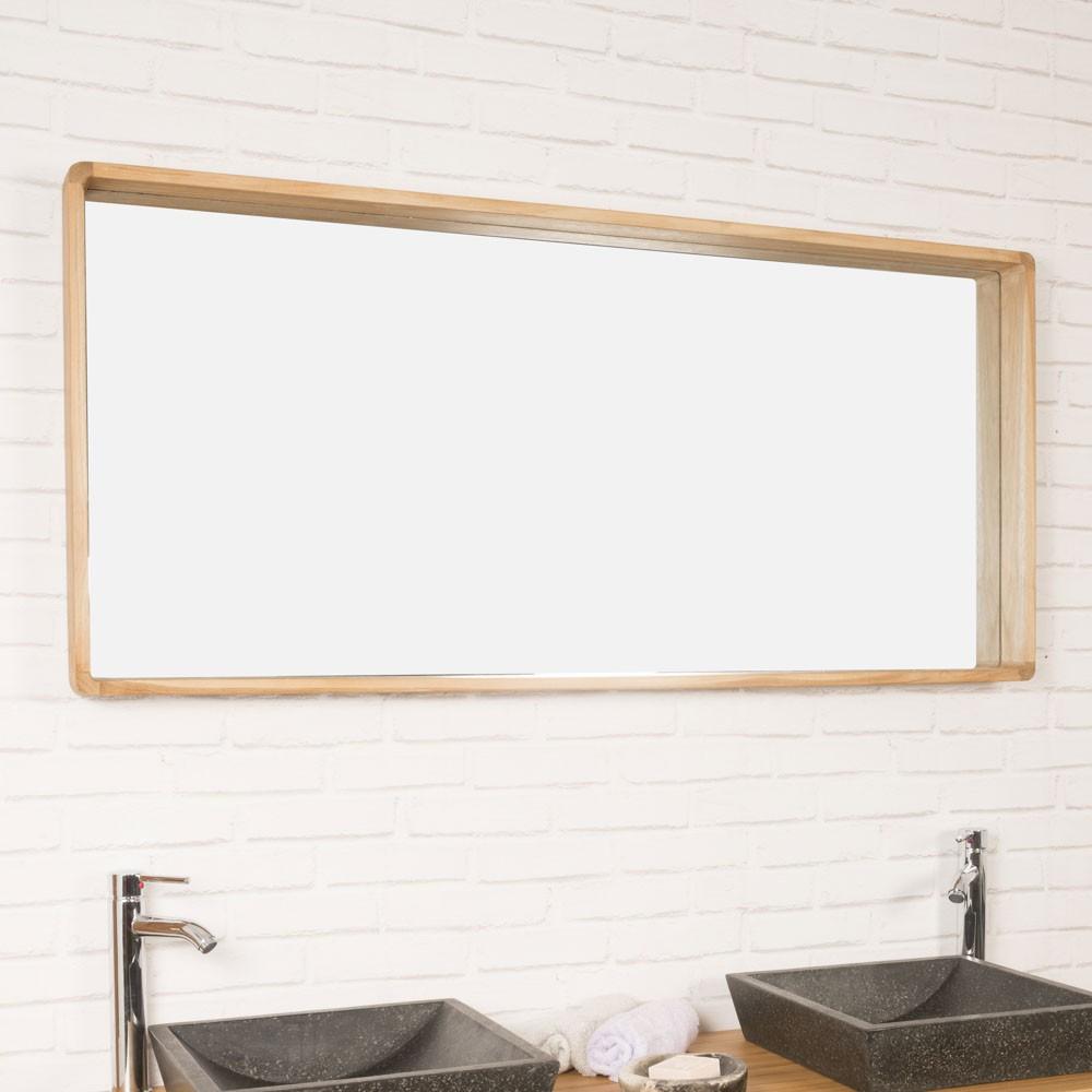 Miroir Salle De Bain En Teck Samba 140 X 65 Cm dedans Mirroir Salle De Bain
