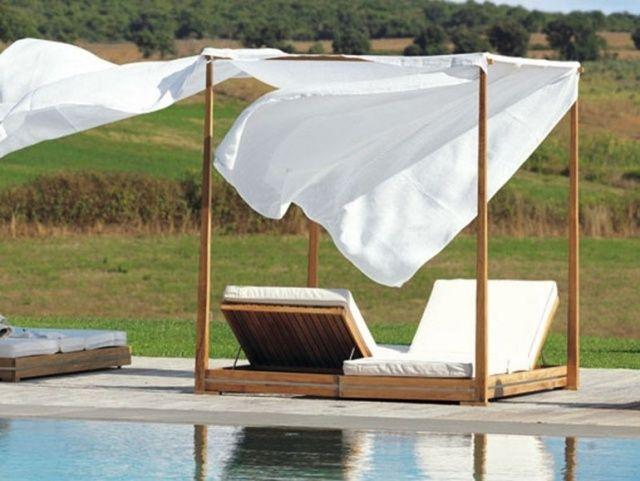 Mobilier Extérieur Design: 60 Chaises-Longues Et Lits De encequiconcerne Lit De Jardin Double