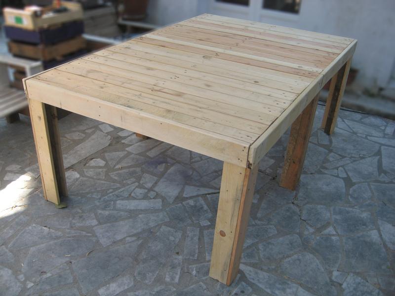 Mobilier Palette Design - Recyclage Et Cie serapportantà Fabriquer Sa Table De Jardin