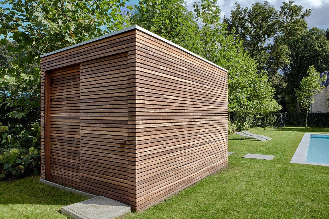 Modern Tuinhuis In Padoek | Bogarden destiné Abri De Jardin Moderne Design