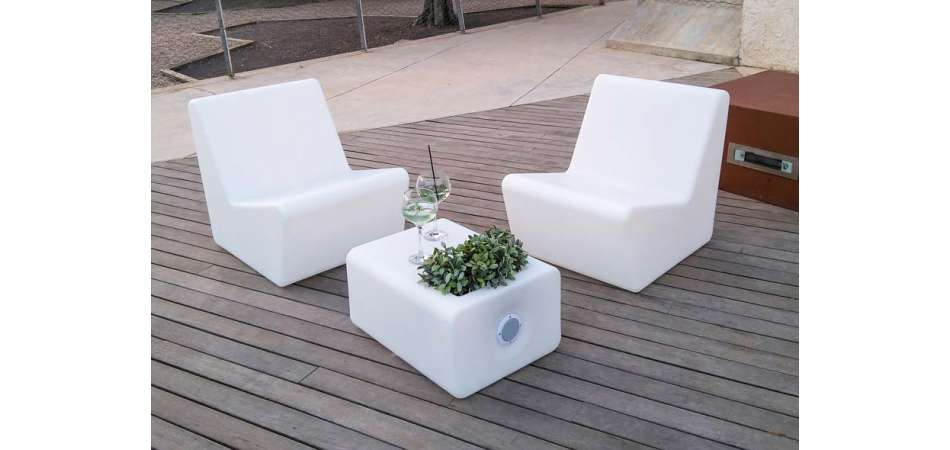 Module Fauteuil Lumineux Design Pour Terrasse Ou Jardin. destiné Salon De Jardin Lumineux