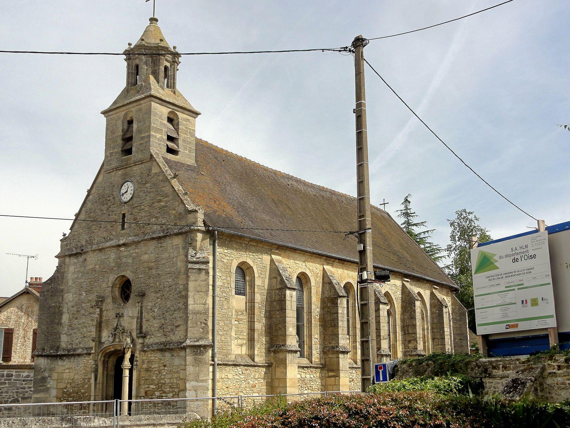 Montagny-En-Vexin — Wikipédia tout Les Aubes Du Vexin