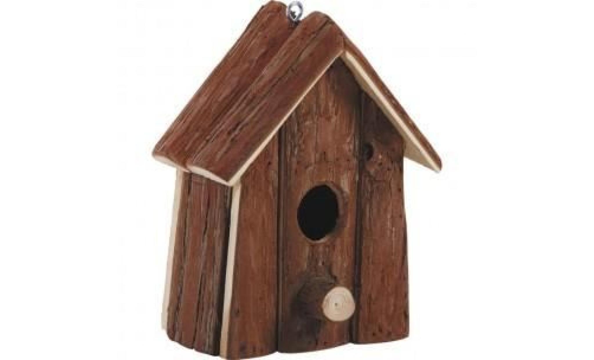 Nichoir À Oiseaux En Ecorces De Bois - Achat/Vente pour Ecorces Jardin