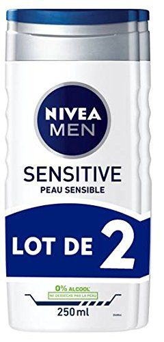 Nivea Men Gel Douche Sensitive Peau Sensible 3En1 | Peau à Meilleur Gel Douche Antibact�Rien