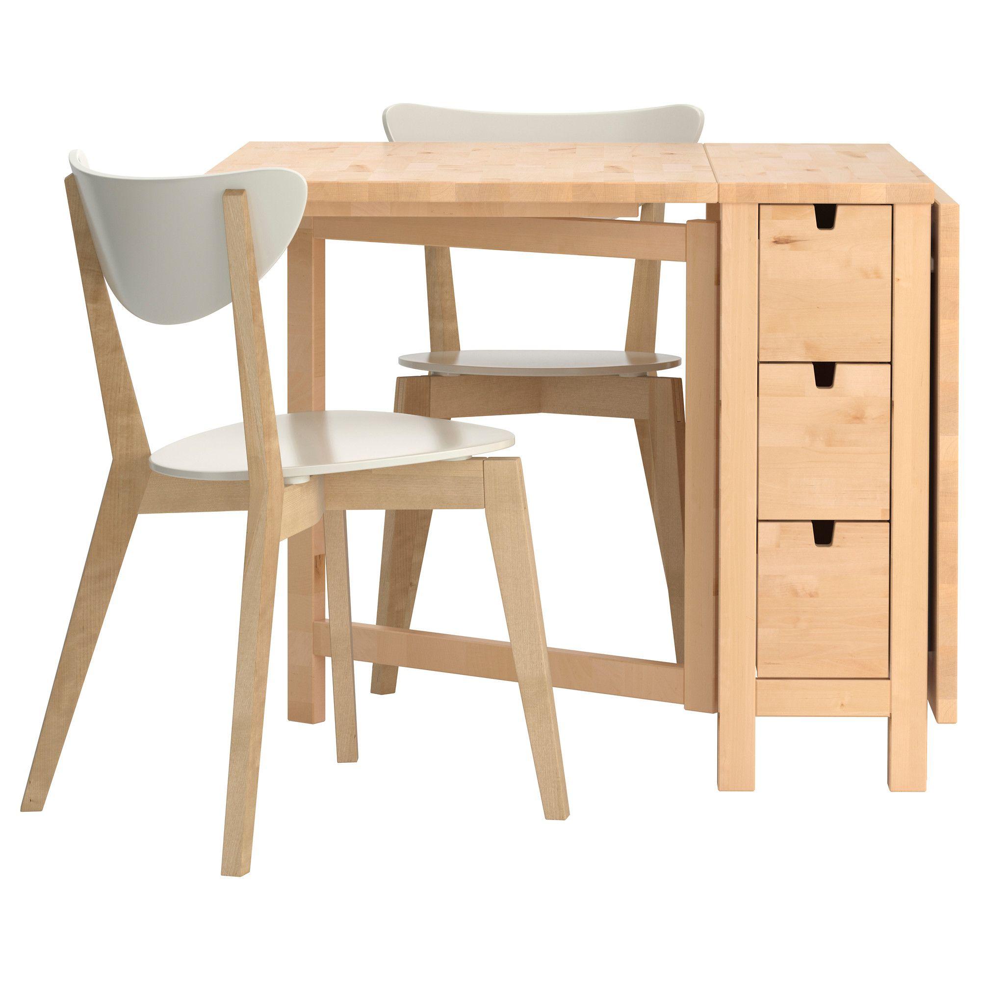 Norden/nordmyra Table Et 2 Chaises - Ikea   Table Salle À intérieur Table Salle A Manger Pliante Ikea