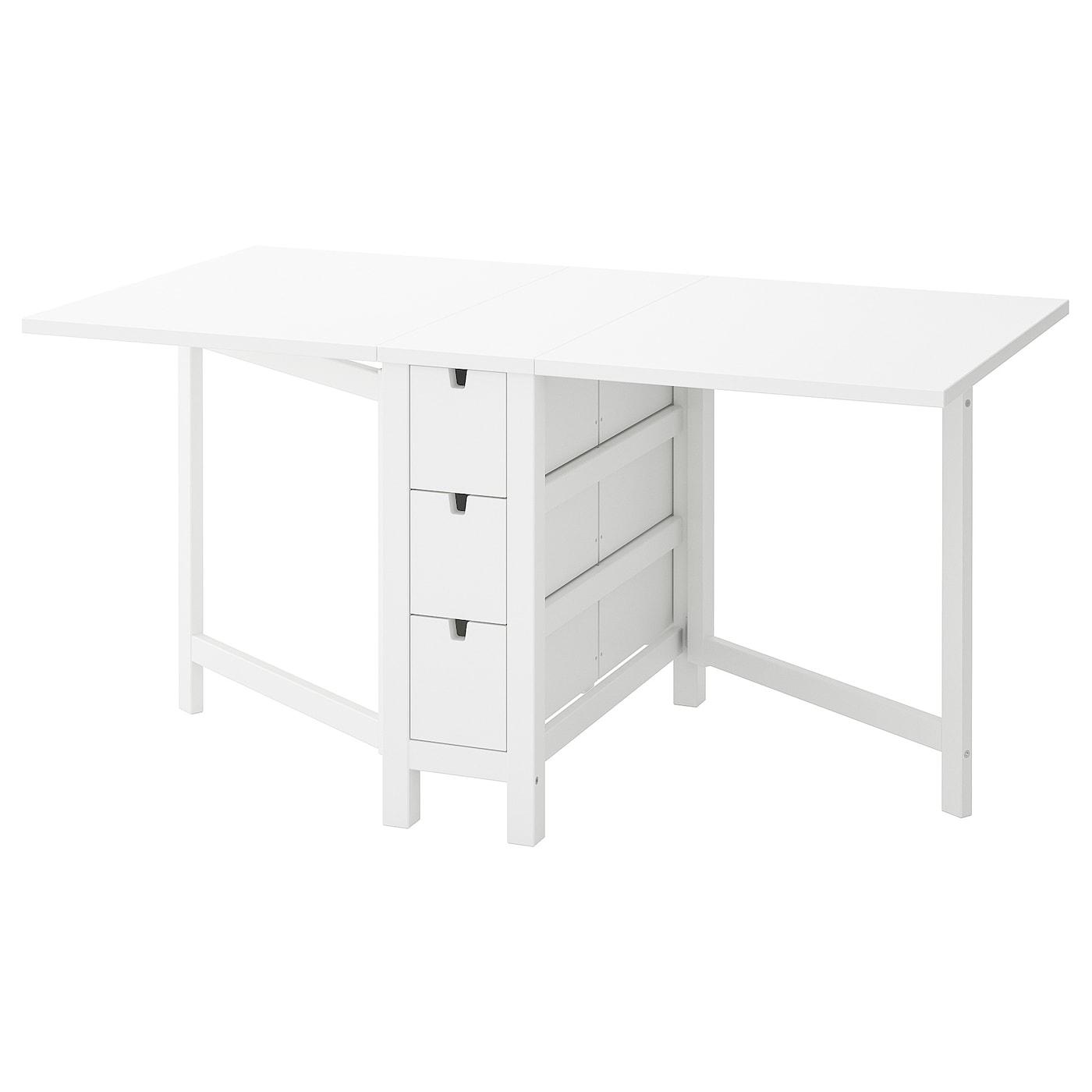 Norden Table À Rabat - Blanc 26/89/152X80 Cm tout Table Salle A Manger Pliante Ikea