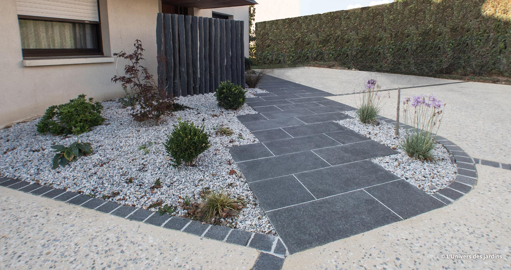 Nos Conseils Pour Embellir Vos Circulations & Allées De Jardin encequiconcerne Exemple D Aménagement De Jardin