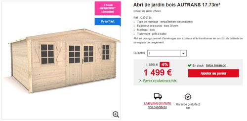 Opération Jardin Chez Auchan.fr: Jusqu'À -33% Sur Les à Auchan Abri De Jardin