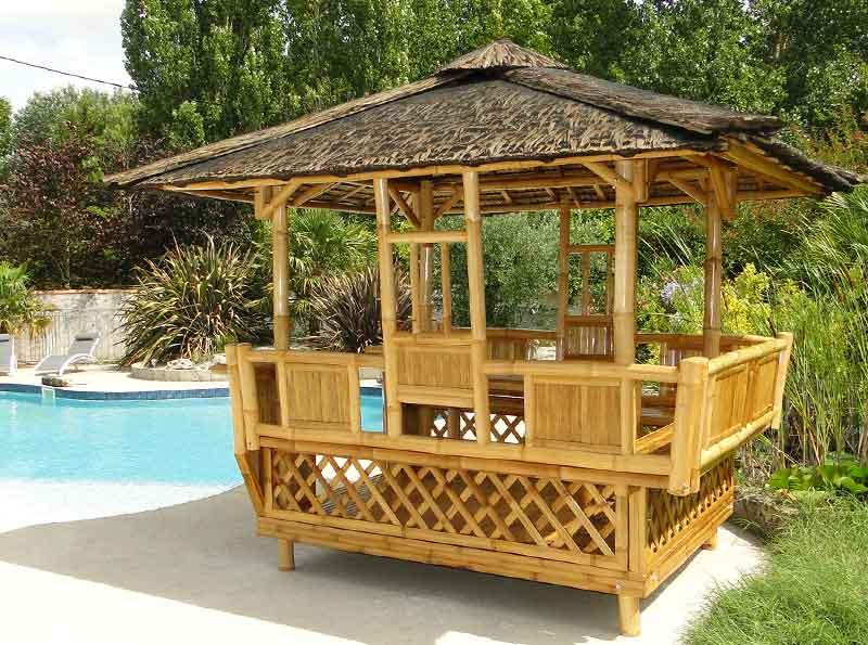 Paillote De Jardin En Bambou Panay dedans Déco Jardin Bambou