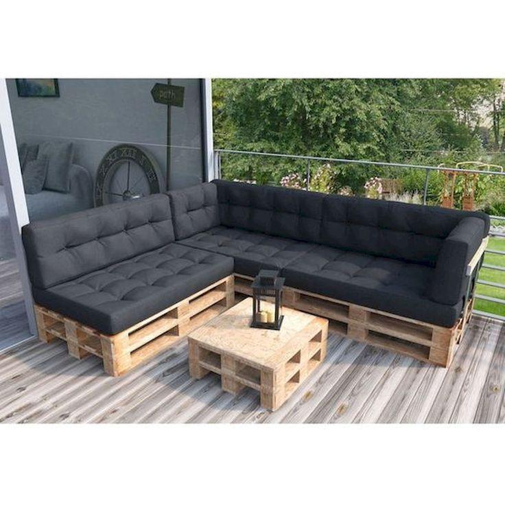 Pallet Sofa With Back #Pallet - Palettensofa Mit destiné Canapé Palette Dossier Incliné