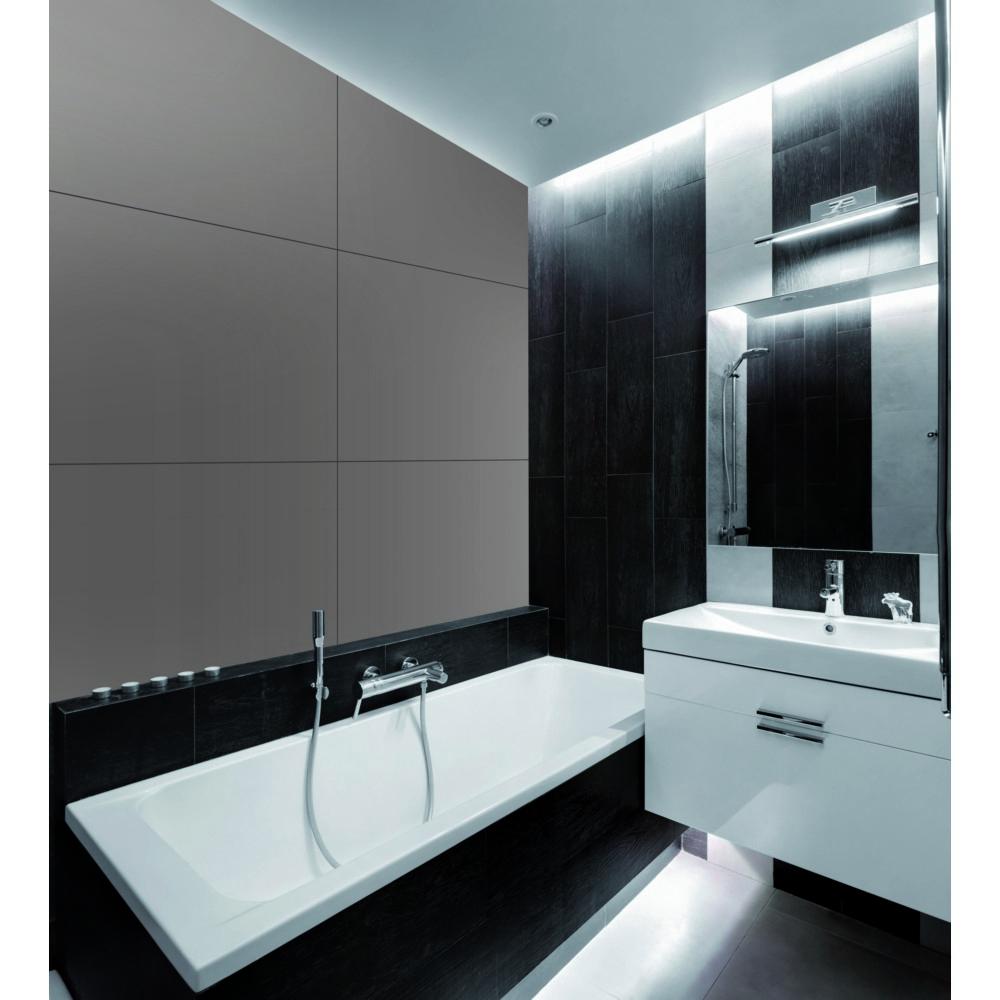 Panneau Composite Pour Revêtement Mural Salle De Bain Cuisine Aluminium  80X120Cm tout Panneau Composite Salle De Bain