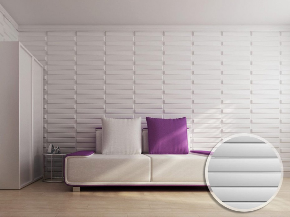 Panneau Mural 3D Strait À Peindre - Pack De 3M² à Revetement Mural 3D Castorama