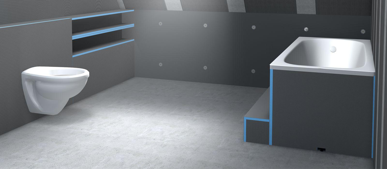 Panneaux De Construction – Wedi.de tout Plaque Renovation Salle De Bain