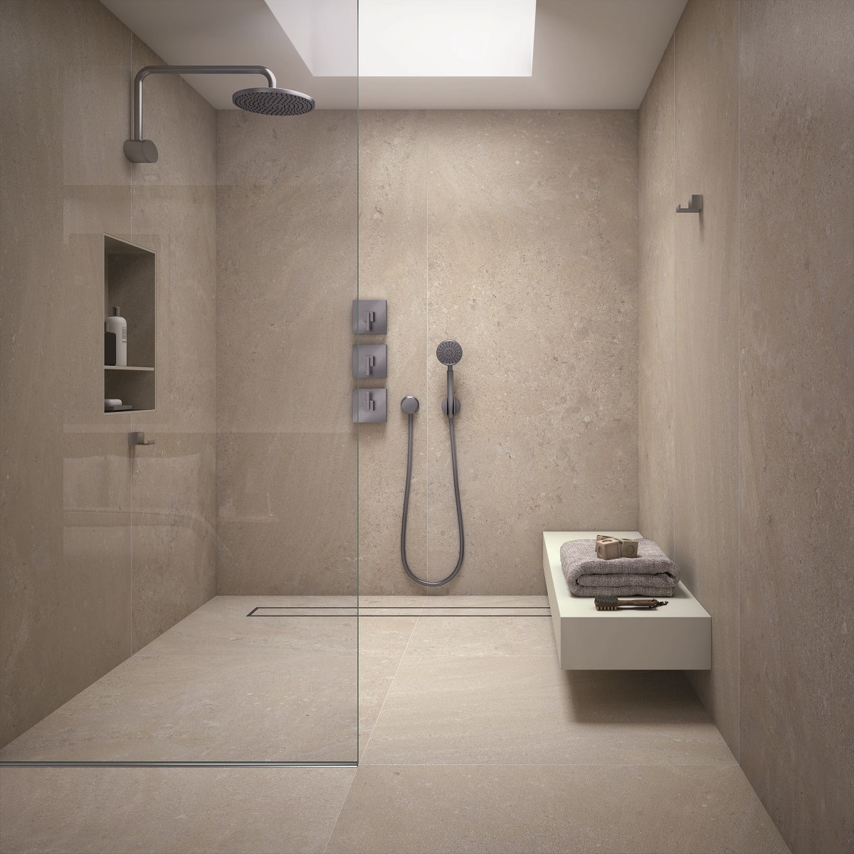 Panneaux Muraux Pour Votre Salle De Bain & Espaces De Douche intérieur Panneau Composite Salle De Bain