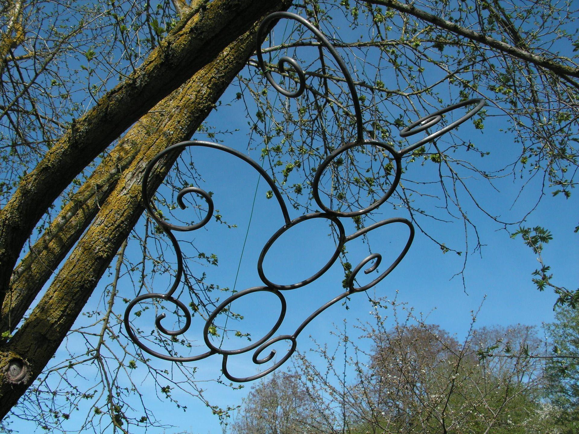 Papillon En Fer Forgé Brut Pour Décoration De Jardin Ou avec Décoration Jardin Fer Forgé