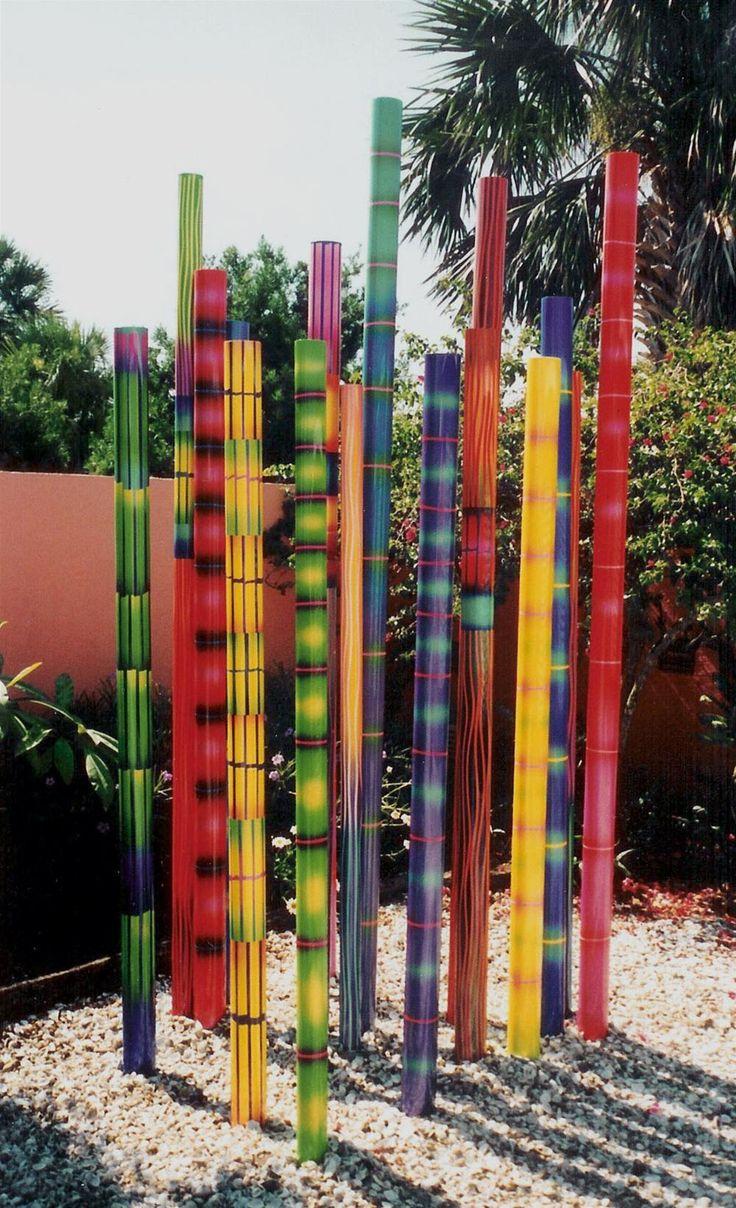 Peindre Des Bambous Pour Un Jardin Coloré | Sculpture concernant Déco Jardin Bambou