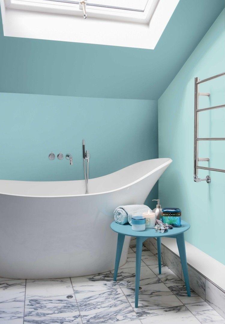 Peinture Turquoise: Choisir Nuance Pour Votre Intérieur intérieur Idée Peinture Salle De Bain