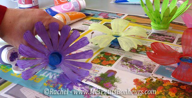 Penture Fleurs Plastique | Fleurs En Bouteille Plastique concernant Idée Cadeau Jardin