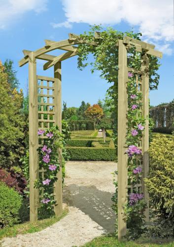 Pergola Arche Treillis En Bois Massif, Modèle Cadix pour Arche De Jardin En Bois