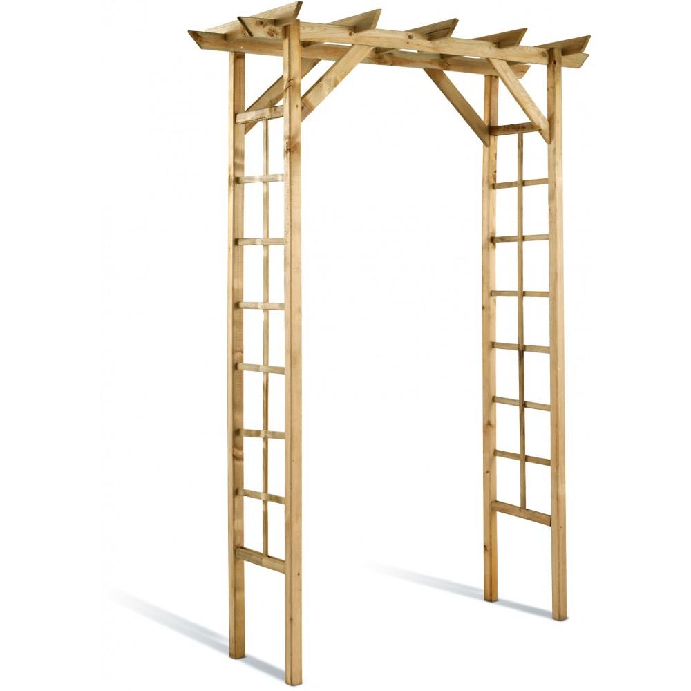 Pergola En Bois Avec Treillage - Longueur 140 Cm à Arche De Jardin Leroy Merlin