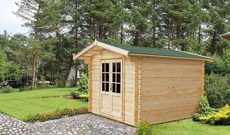 Petit Abri De Jardin En Bois 5M2 Avec Plancher Et Bardeau dedans Abri De Jardin En Bois 5M2