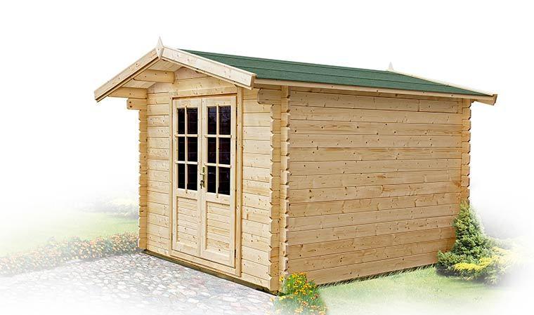Petit Abri De Jardin En Bois 5M2 Avec Plancher Et Bardeau destiné Abri De Jardin Bois Randan 9M2 Traité Autoclave