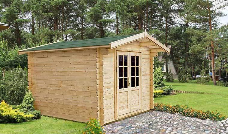 Petit Chalet De Jardin En Bois Avec Plancher Et Bardeau D serapportantà Petit Cabanon De Jardin