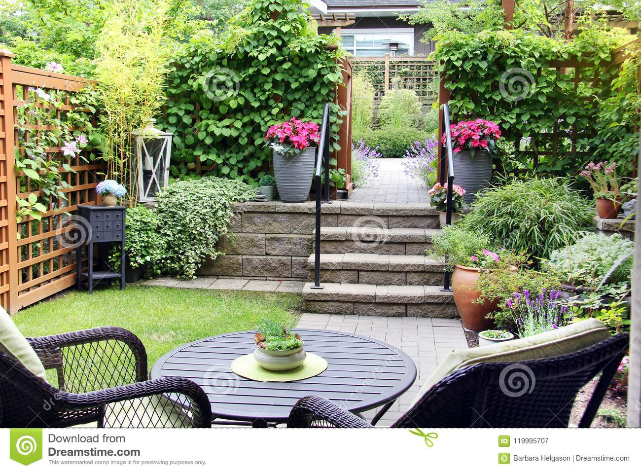 Petit Jardin De Maison Urbaine Image Stock - Image Du dedans Petit Cabanon De Jardin