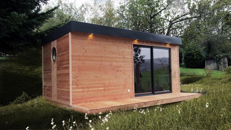 Petite Maison En Bois Habitable - L'Habis concernant Abri De Jardin Habitable