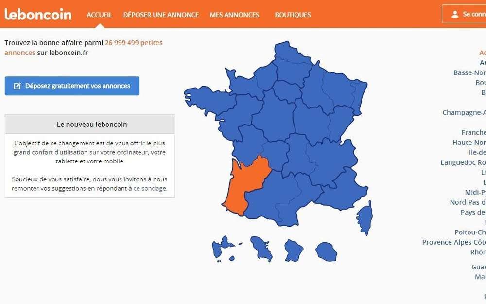 Petites Annonces : Le Bon Coin A Un Nouveau Site - Sud destiné Le Bon Coin57