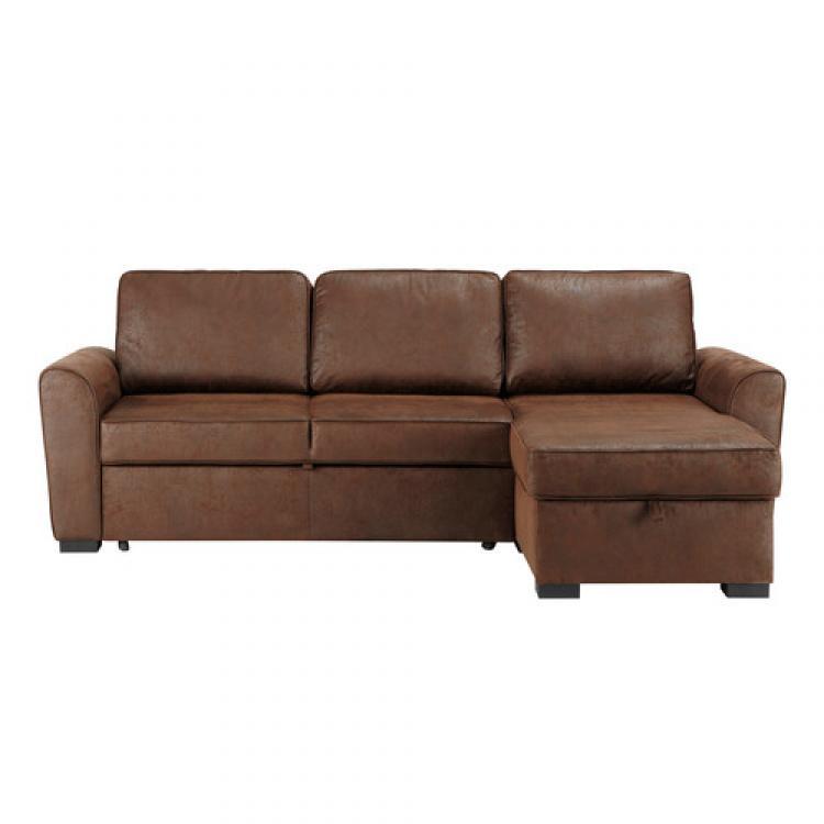 Photos Canapé D'Angle Cuir Marron Vieilli intérieur Sofa Pas Cher Montreal
