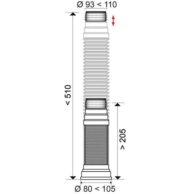 Pipe Wc Extensible À Lèvres Ø93/100/110 Wirquin Pro | Bricoman avec Mitigeur Entraxe 110 Bricoman