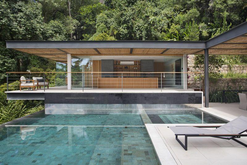 Piscine À Débordement, Cuisine D'été Et Vue Spectaculaire dedans Idees Pool House Piscine