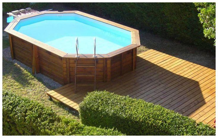 Piscine Bois Octogonale Allongée Woodfirst Original concernant Piscine Woodfirst