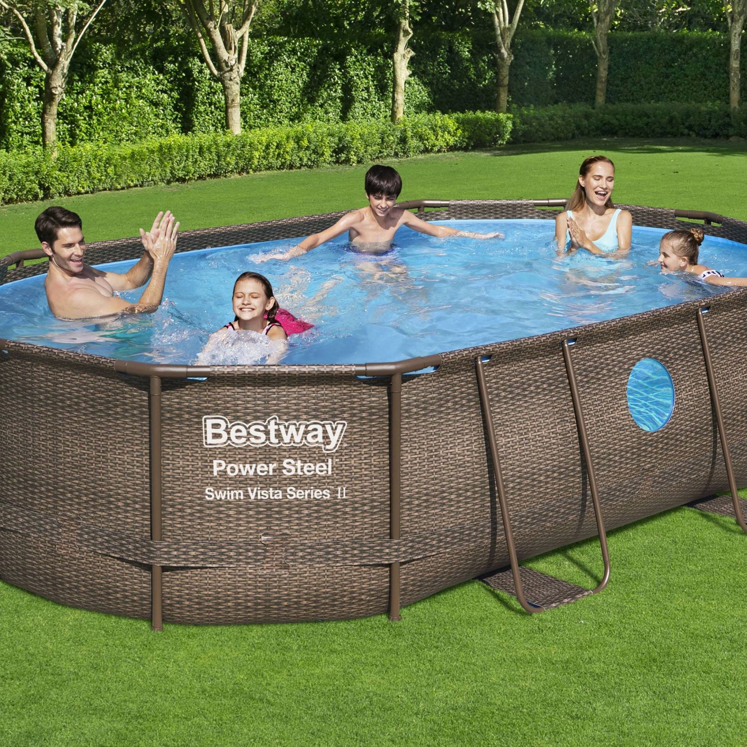 Piscine Tubulaire Bestway - Aventurine 15M² Imitation tout Amenagement Piscine Tubulaire