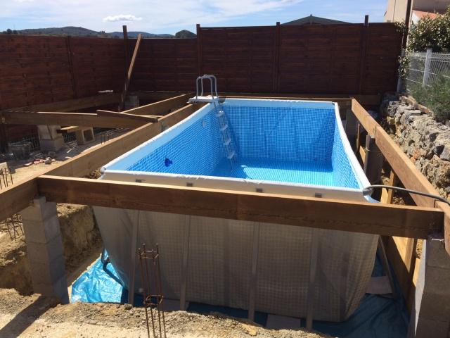 Plage Piscine Tubulaire serapportantà Pool House En Kit